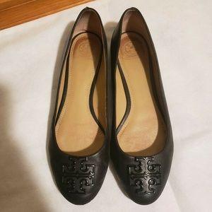 Tory Burch Melinda Flats Black Leather Authentic